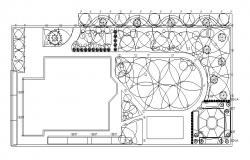 Electrical layout plan details of restaurant floor cad drawing details dwg file