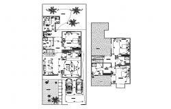 Electrical layout plan details of single family house dwg file