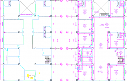 Electrical layout plan of a office dwg file