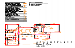 Electrical lighting layout design drawing of house design drawing
