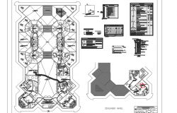 Electrical office plan detail dwg file
