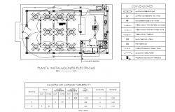 Electrical office plan detail dwg file
