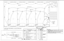 Electrical plan and column plan detail dwg file