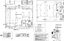 Electrical plan detail dwg file