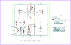 Electrical plan of  area of industrial plant dwg file