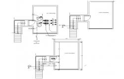 Electrical room 2d layout plan dwg file