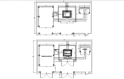 Electrical substation plan autocad file