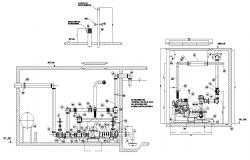 Electrical unit detail 2d view CAD block layout file in autocad format