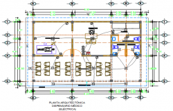 Electrical working plan detail dwg file