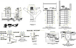 Elevated water Tank detailing and design structure dwg file
