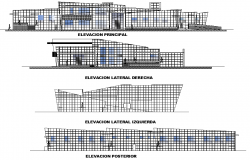 Elevation Administration building plan detail dwg file
