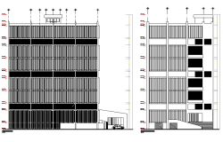 Elevation Building office plan detail dwg file