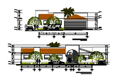 Elevation Design drawing of Bungalow design