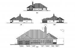 Elevation Drawing of the house in dwg file