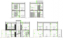 Elevation Duplex full project plan layout file