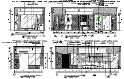 Elevation Floor room details of the house plan detail dwg file