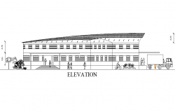 Elevation Garment factory plan detail