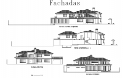 Elevation House two plan layout file