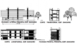 Elevation Industry project plan detail dwg file