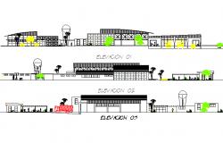 Elevation Juice processing plant detail dwg file