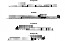 Elevation Multi functional factory plan detail