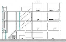 Elevation Plan of Multi Flooring House dwg file