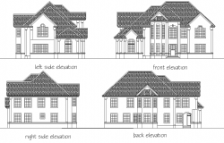Elevation Residential building home plan layout file