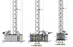 Elevation Transportable base station plan autocad file