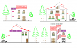 Elevation Villa plan autocad file