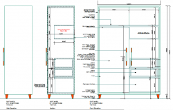 Elevation Wardrobe details dwg file
