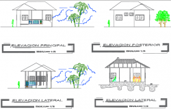 Elevation administer plan detail dwg file