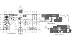 Elevation and plan center line detail dwg file