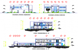 Elevation and section administration plan detail dwg file
