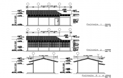 Elevation and section detail dwg file