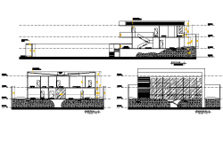 Elevation and section home detail dwg file