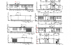 Elevation and section house executive project autocad file