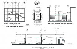 Elevation and section working plan detail dwg file