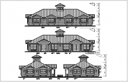 Elevation and side elevation view detail dwg file