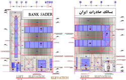 Elevation bank detail dwg file