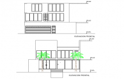 Elevation beach house 3 floors plan layout file
