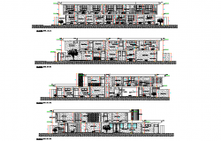 Elevation community clinic autocad file