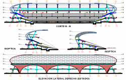 Elevation design and Section plan of Station