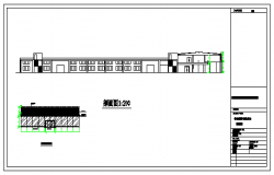 Elevation design drawing of car show room design