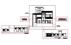 Elevation design drawing of house design drawing, design drawing
