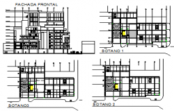Elevation design drawing of residential building design drawing