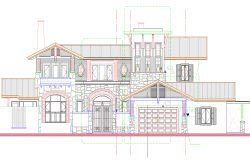 Elevation design of Bungalow project