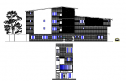 Elevation design of a apartment flat