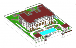 Elevation design of a building in 3d