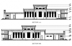 Elevation design of a mosque