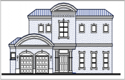 Elevation detail dwg file